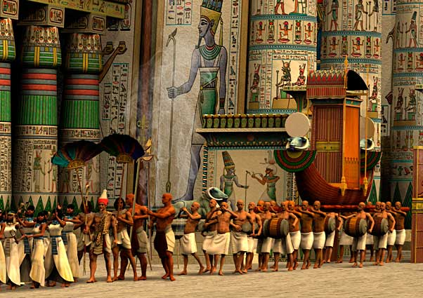 Opet Festival At Karnak Limited Edition Giclee Print